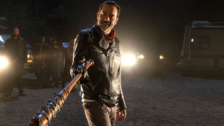 Jeffrey Dean Morgan as Negan.