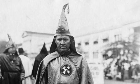 Hiram Wesley Evans as the Imperial Wizard.