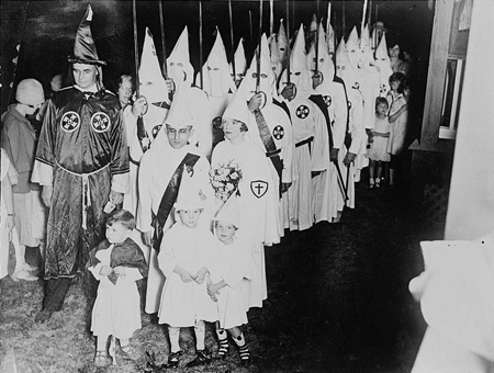 The Klan initiation in Atlanta.