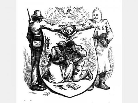 The Klan and Confederate soldiers go hand in hand.