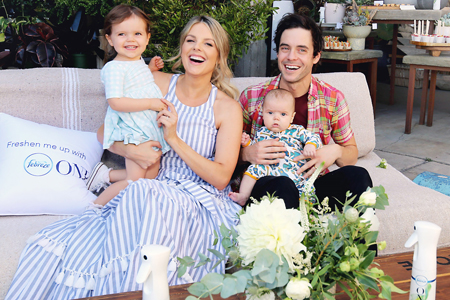 Ali Fedotowsky and Kevin Manno with their kids.