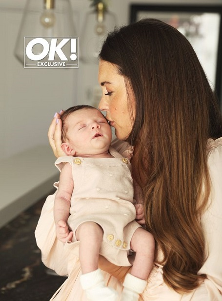 Lacey Turner has opened up on the arrival of baby daughter Dusty
