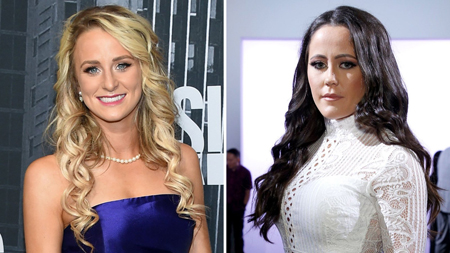 Side by side image of Leah Messer and Jenelle Evans.