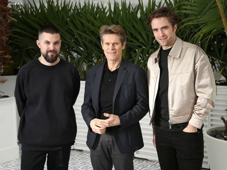 Robert Eggers, William Dafoe and Robert Pattinson at Cannes.