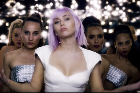 Miley Cyrus as Ashley O on the final episode of season 5 of Black Mirror.