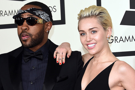 Mike Will Made-It and Miley Cyrus together at the Grammy's