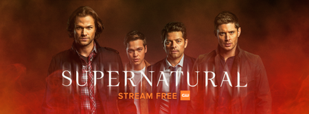 Sam, Jack, Cas and Dean are seen on the poster of Supernatural.