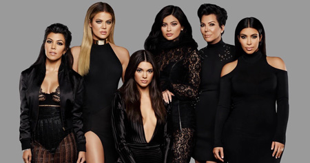 All the Kardashian and Jenner girls together in the poster.