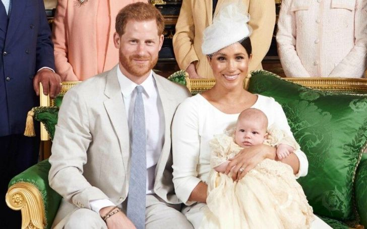Meghan Markle and Prince Harry releases Photo of Archie' Christening