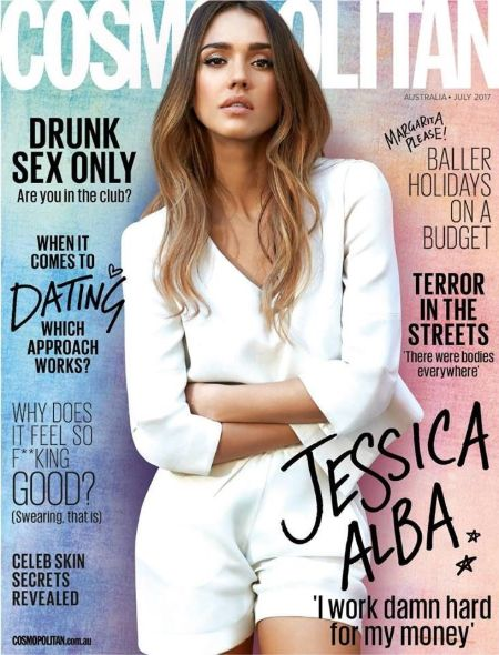 Not her First! – Jessica Alba Cosmopolitan Australia July 2017 Issue (SOURCE: Pinterest)