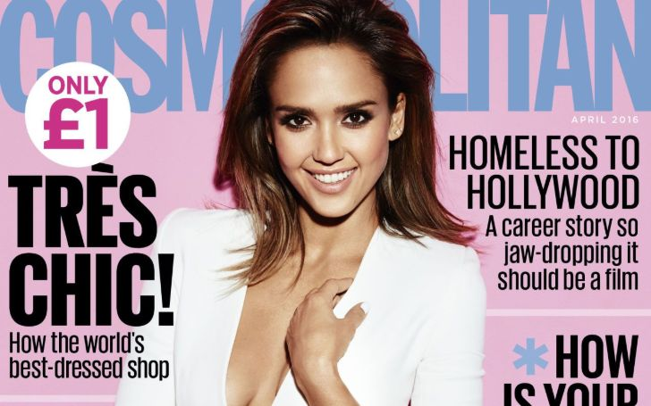 Jessica Alba, 38, Stars In The Cover Of The August Issue Of Cosmopolitan