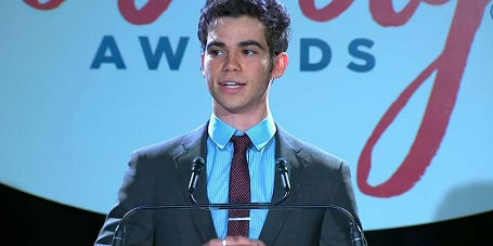Cameron Boyce received the Daytime Emmy Award for Disney XD's Timeless Heroes — Be Inspired in 2017