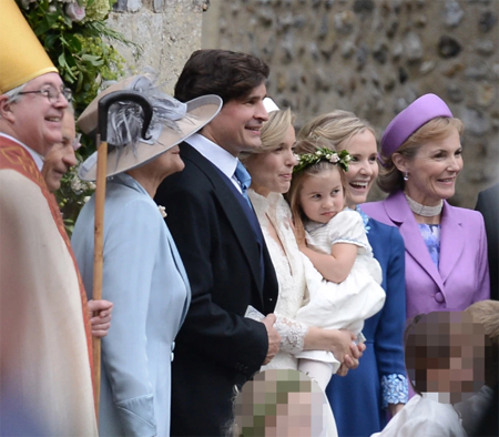 Sophie's wedding with Princess Charlotte as bridesmaid.