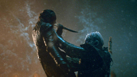 Arya Stark and the Night King.