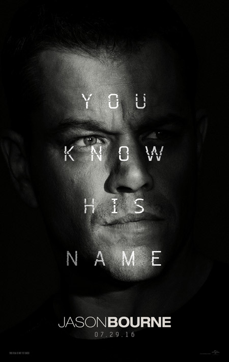 The poster for Jason Bourne.