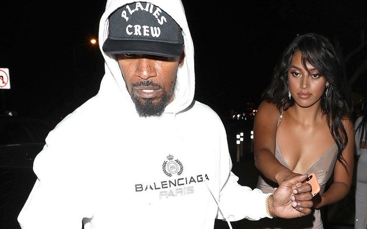 Jamie Foxx Spotted With Sela Vave Outside a West Hollywood Nightclub on Friday Night
