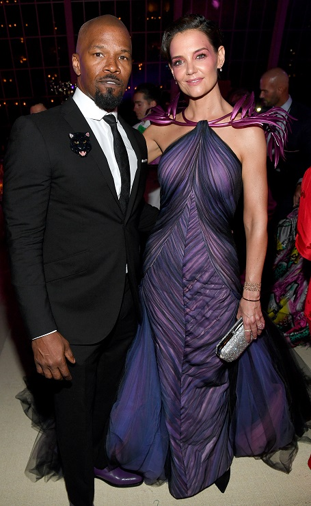 Foxx and Holmes were last seen at the Met Gala in May.