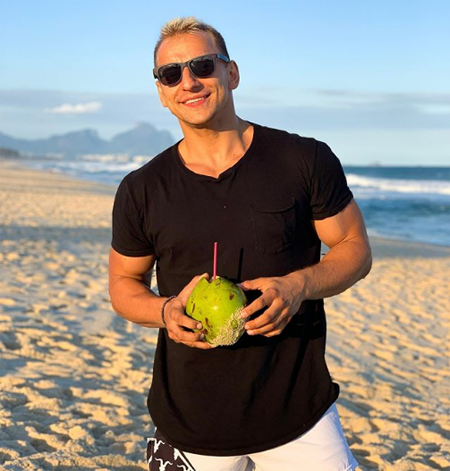 Vitaly on the beach.