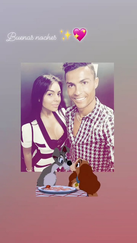 Georgina Rodriguez added a cute GIF snippet indicating her widening relationship with Ronaldo.