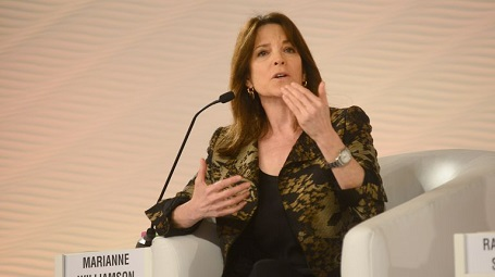 Marianne Williamson accused Anderson Cooper of casting aspersions against her