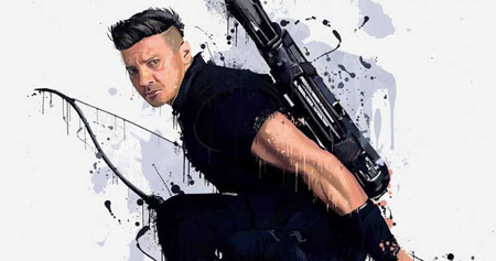 Jeremy Renner as Hawkeye in fan art.