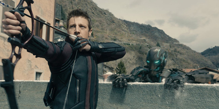 Jeremy Renner as Hawkeye in Age of Ultron.