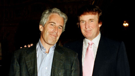 Jeffrey Epstein and Donald Trump together.