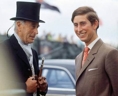 Lord Mountbatten and Prince Charles.