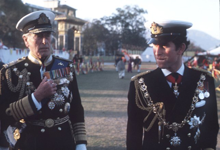 Lord Mountbatten in his uniform.