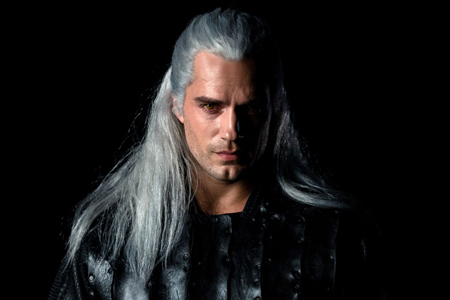 The Witcher played by Henry Cavill.