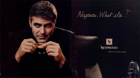 George's endorsement company Nespresso.