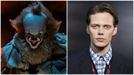 Pennywise the dancing clown and Bill SKarsgard.