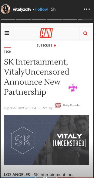 Vitaly Zdorovetskiy is excited over the new partnership with SK Intertainment Inc.