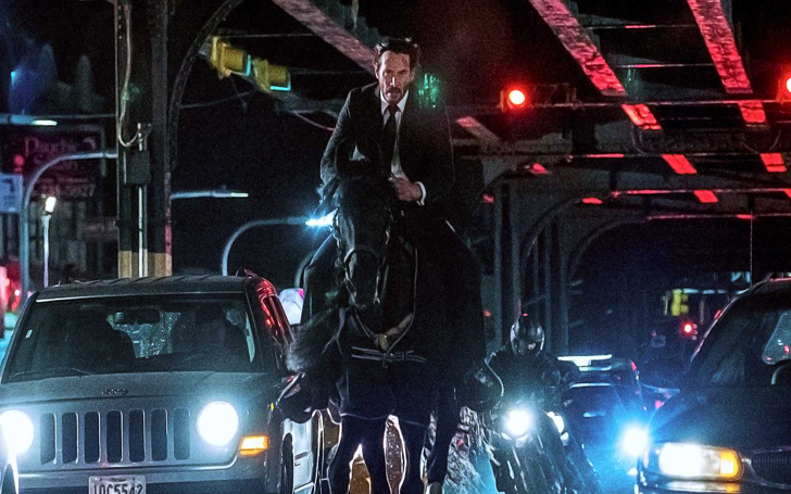 Check Out Keanu Reeves Learning To Perform Stunts While Riding A Horse For John Wick 3