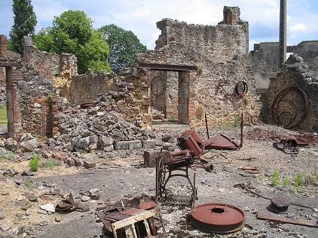 France's Oradour-sur-Glane remains destroyed by the effects of World War II.