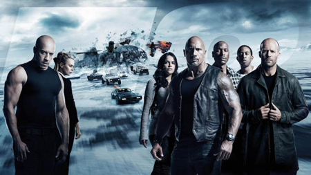 The poster for Furious eight.