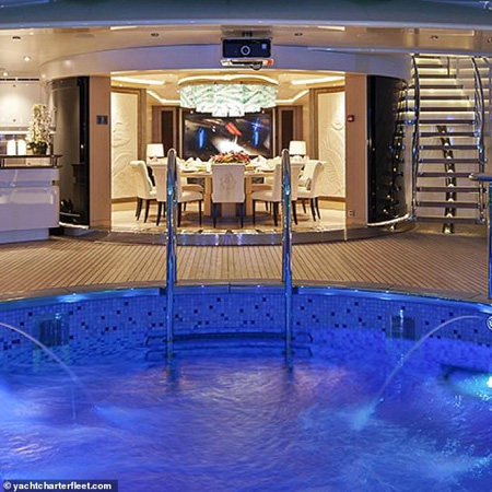 Pool on the yacht.