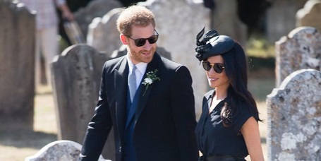 Prince Harry and his wife Meghan Markle attended Harry's childhood friend Charlie van Straubenzee on Meghan's 37th birthday