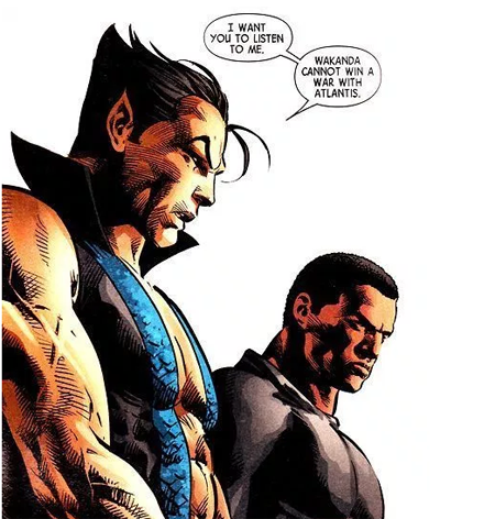 Namor and Black Panther.