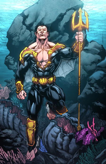 Namor in water.