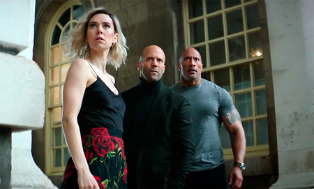 The cast of Hobbs and Shaw.