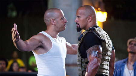 Vin Diesel vs Dwayne Johnson.