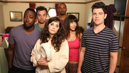 The cast of New Girl.