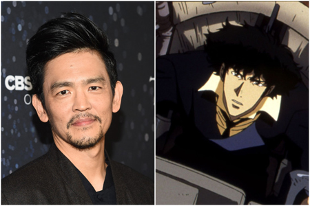 John Cho and Spike Spiegel side by side collage.