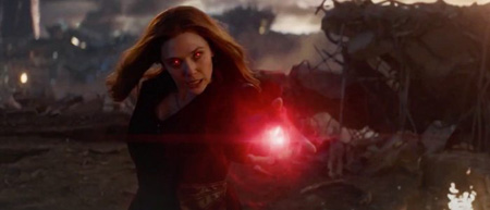 Scarlet Witch uses her power