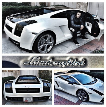 Jay Sean flaunting his Lamborghini Gallardo
