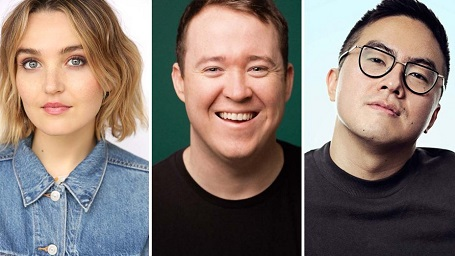 The new SNL cast members, minus the guy in the middle.