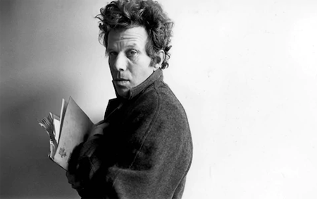 Tom Waits with a folder.