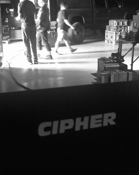 Cipher chair in the set of Fast & Furious 9.