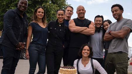 The cast of Fast & Furious 9.